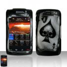 Blackberry Storm II 9550 Spade Skull Cover Case Snap on Protector + LCD Screen Guard