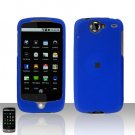HTC Google Nexus One Blue Case Cover Snap on Protector + Car Charger