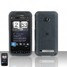 HTC Touch Diamond 2 CDMA Carbon Fiber Case Cover Snap on Protector + Car Charger