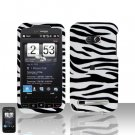HTC Touch Diamond 2 CDMA Zebra Case Cover Snap on Protector + Car Charger