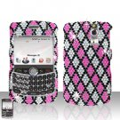 Blackberry Curve 8330 8300 Checkered Design Full Diamon Case Snap on Cover
