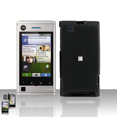 Black Case Cover + LCD Screen Protector Guard for Motorola Devour A555
