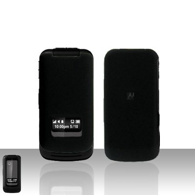 Black Case Cover Snap on Protector + Car Charger for Motorola i410