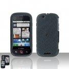 Carbon Fiber Cover Case + LCD Screen Protector for Motorola Cliq MB200