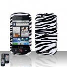 White Zebra Cover Case + LCD Screen Protector for Motorola Cliq MB200