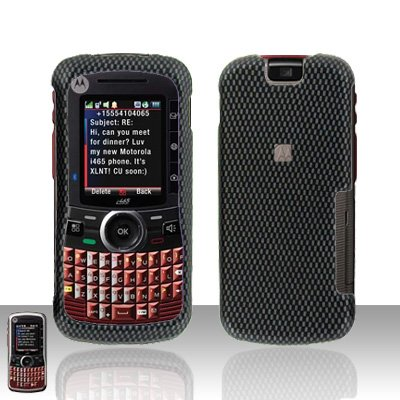 Carbon Fiber Cover Case Hard Snap on Protector for Motorola Clutch i465