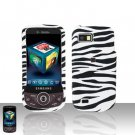 Zebra Cover Case Snap on Protector + Car Charger for Samsung Behold 2 T939