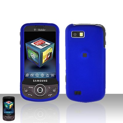Blue Cover Case Snap on Protector + Car Charger for Samsung Behold 2 T939