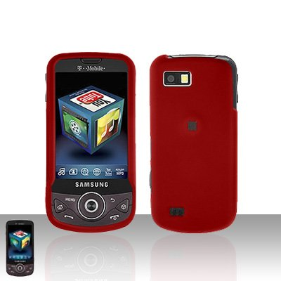 Red Cover Case Snap on Protector + Car Charger for Samsung Behold 2 T939