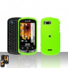 Neon Green Cover Case Snap on Protector + Car Charger for Samsung Moment M900