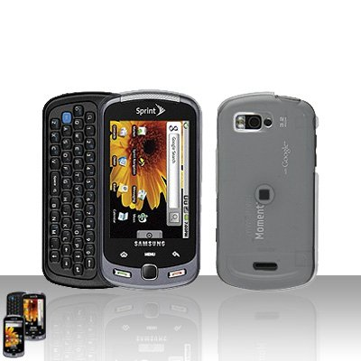 Clear Transparent Cover Case Snap on Protector + Car Charger for Samsung Moment M900
