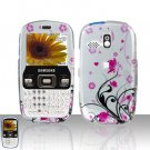 Pink Flowers Cover Case Snap on Protector for Samsung Freeform R350 R351