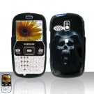 Hooded Skull Cover Case Snap on Protector + Car Charger for Samsung Freeform R350 R351
