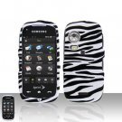 Zebra Cover Case Snap on Protector + Car Charger for Samsung Instinct HD M850