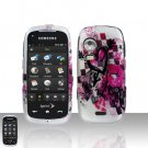 Arrow Heart Cover Case Snap on Protector + Car Charger for Samsung Instinct HD M850