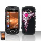 Cute Heart Cover Case Snap on Protector + Car Charger for Samsung Omnia 2 i920