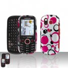 Pink Dots Design Snap on Cover Case + LCD Screen Guard Protector for Samsung Intensity U450
