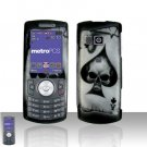 Spade Skull Cover Case Rubberized  Snap on Protector for Samsung Messager 2 R560