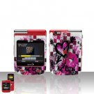 Arrow Heart Cover Case Snap on Protector + Car Charger for LG Lotus Elite LX610