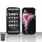 Cute Heart Cover Case Snap on Protector + Car Charger for LG Arena GT950