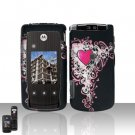 Heart Cover Case Snap on Protector for Motorola Cabo i890