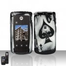 Spade Skull Cover Case Snap on Protector for Motorola Cabo i890