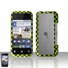 Green Checkered Cover Case Snap on Protector for Motorola Backflip MB300
