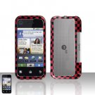 Red Checkered Cover Case Snap on Protector for Motorola Backflip MB300