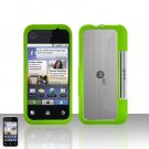 Neon Green Cover Case Snap on Protector for Motorola Backflip MB300