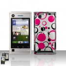 Pink Dots Stars Cover Case Snap on Protector for Motorola Devour A555