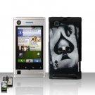 Spade Skull Cover Case Snap on Protector for Motorola Devour A555