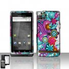 Colorful Flowers Cover Case Snap on Protector for Motorola Droid A855
