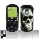 Skull Cover Case Snap on Protector for Samsung Exclaim 2 Restore M570