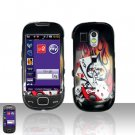 Flames Ace Skul Cover Case Snap on Protector for Samsung Calibur R850