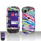 Rainbow Zebra Cover Case Snap on Protector for Samsung Calibur R850