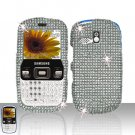 Clear Full Diamond Cover Case Snap on Protector for  for Samsung Freeform R350 R351