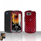 Red Checkered Cover Case Snap on Protector + Car Charger for Samsung Moment M900