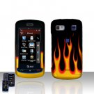Flames Cover Case Snap on Protector for LG Xenon GR500