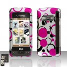Pink Dots Cover Case Snap on Protector for LG enV TOUCH VX11000