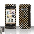 Golden Checkered Cover Case Snap on Protector for LG enV TOUCH VX11000