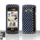 Grey Checkered Cover Case Snap on Protector for LG enV TOUCH VX11000