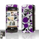 Purple Dots Cover Case Snap on Protector for LG enV TOUCH VX11000