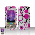 Pink Dots Case Cover Snap on Protector + Car Charger for LG Chocolate Touch VX8575