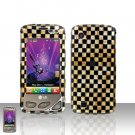 Golden Checkered Case Cover Snap on Protector for LG Chocolate Touch VX8575