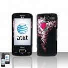 Heart Cover Case Snap on Protector for LG eXpo GW820