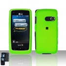 Neon Green Cover Case Snap on Protector for LG Rumor Touch LN510