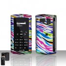 Sanyo Incognito 6760 Rainbow Zebra Cover Case Snap on Protector