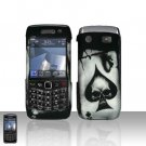 Blackberry Pearl 3G 9100 Spade Skull Cover Case Snap on Protector