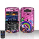 Blackberry Bold 9700 Onyx Pink Design Butterflies Cover Case Snap on Protector + Car Charger