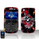 Blackberry Curve 8520 8530 Clown Skull Cover Case Snap on Protector